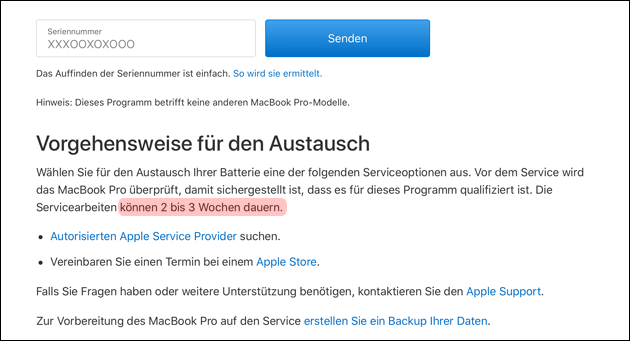 Apple MacBook Akku Tausch