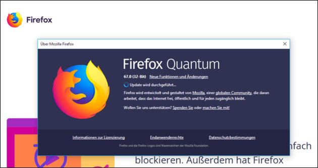 Firefox 67: Datenschutz Update