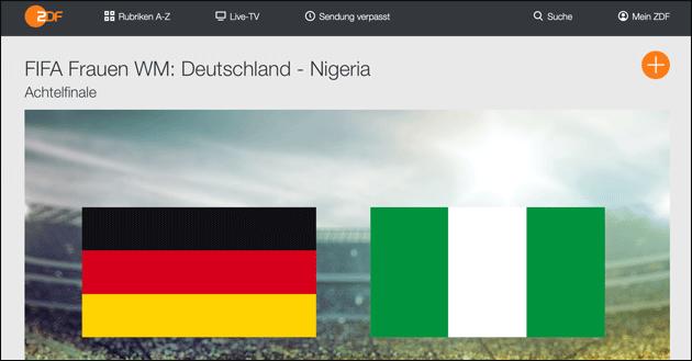 Fussball WM: Deutschland gegen Nigeria im Live Stream