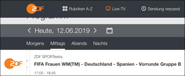 Fussball WM der Frauen: Live-Stream (Deutschland)