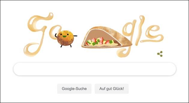 Google Doodle für die Falafel