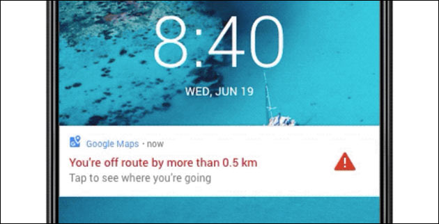 Google Maps Warnung