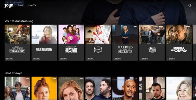 Joyn: Neue Streaming App