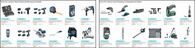 Amazon Angebote: Bosch Werkzeug