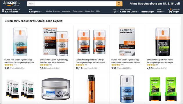 Amazon: L'oreal Angebot