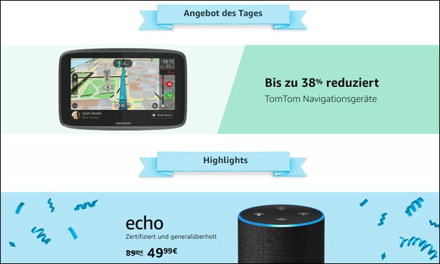 Amazon TomTom Angebot