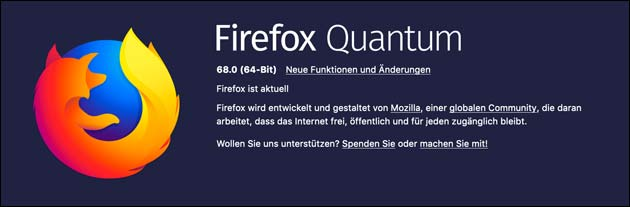 Firefox 68 Update