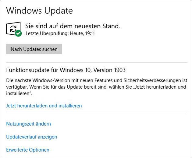 Windows Update 1903