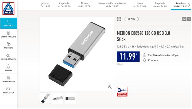 Aldi: Medion USB Stick