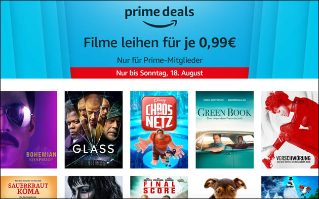 Amazon Prime Deals im August