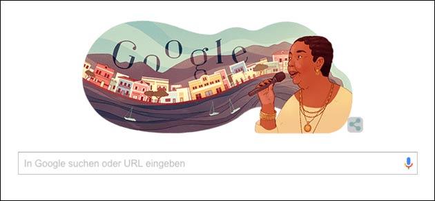 Cesária Évora: Google Doodle