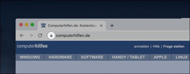 Chrome 76 ändert Anzeige der URL