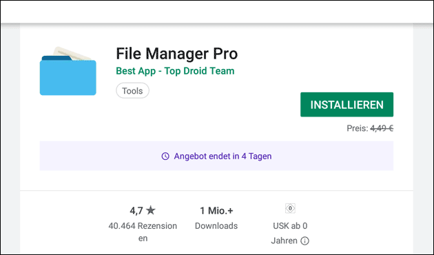 File Manager Pro kostenlos