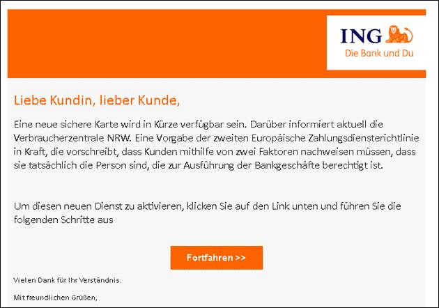 ING Phishing Email