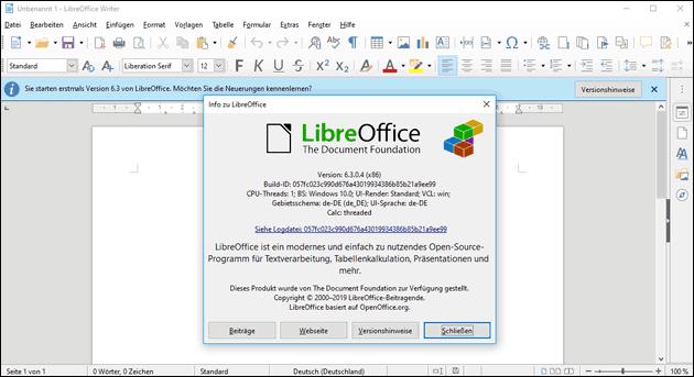 LibreOffice 6.3.0 ist da!