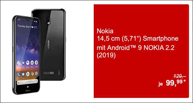 Nokia 2.2 bei Aldi im Angebot