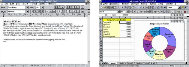 Word und Excel