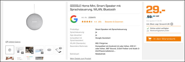 Google Home Angebot