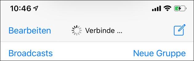 Verbinden: WhatsApp offline