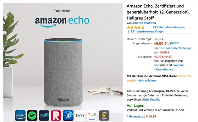 Amazon Echo Angebote