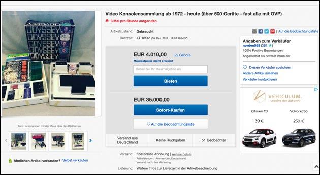 eBay: Konsolen Aktion