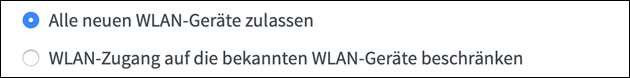 Fritzbox MAC Filter: Neue WLAN Geräte zulassen