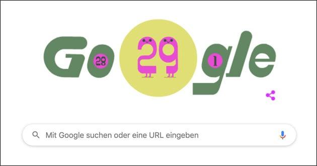 Schaltjahr 2020: Google Doodle