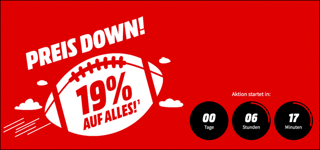 Super-Bowl-Aktion bei Mediamarkt