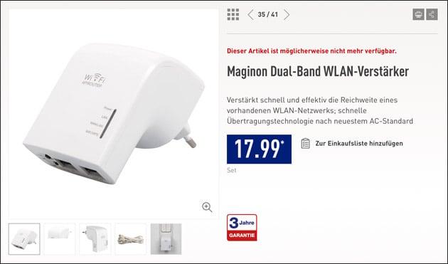 Maginon WLAN-Verstärker bei Aldi