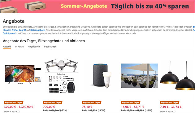 Amazon Sommerangebote