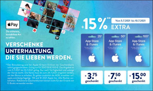Apple iTunes Extra-Guthaben